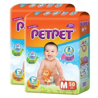 PETPET Tape Diaper Jumbo Packs M50 (2packs)