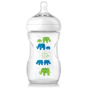 Philips Avent Natural Bottle Elephant Design (Blue Green) x 1