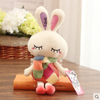Plush toy love rabbit small white rabbit doll cloth doll wedding doll girl children's Mini small gift