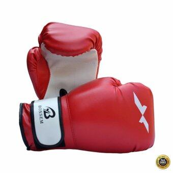 PU Leather Grappling Training Punching Sparring Boxing Gloves MuayThai Boxing Gloves For Fighting Sandbag
