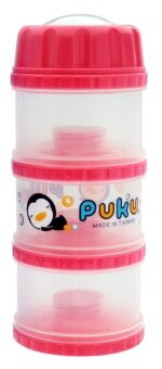 Harga PUKU 3 Layers Extra Large Independet Milk Powder Dispenser Formula Baby Infant Container Portable Box Case 100ml Pink