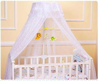 QQ Crib mosquito net bed baby bed mosquito net bed children bedtelescopic mosquito net White