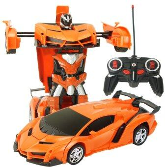 Harga Remote Control Car One Key Transformers 4 Rechargeable Hornet AutoMetamorphic Robotics Boy Toy Sports Car