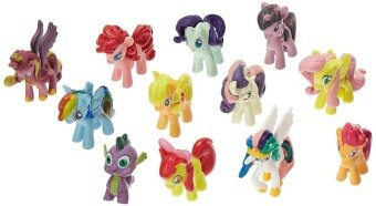 SaiDeng 12PCS My Little Pony Cake Toppers Cupcake Toys Figurines Playset