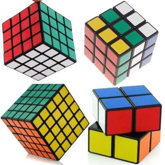 shengshou Black Cube Puzzle Bundle Pack,2x2x2,3x3x3,4x4x4,5x5x5Set,Speed Cube Collection, Magic Cube Set Magic Cube Rubiks RevengePuzzle