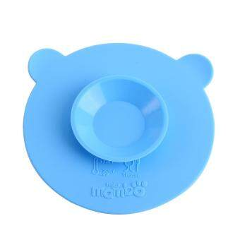 Silicone Baby Bowl Base Sucker Double-sided Magic Suction Anti-skidTableware Placemat(Blue)
