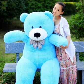 Harga Sky Blue Stuffed Animal Teddy Bear Plush Soft Toy 80CM Huge SoftToy