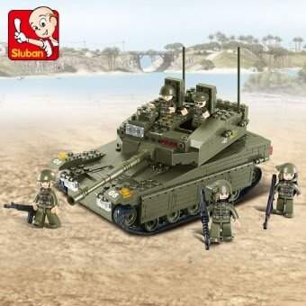 Small Lu Ban ENLIGHTEN 0305 happy assembled educational Tank