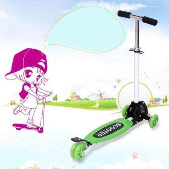 Harga Snakey Height Adjustable Bend To Turn 4 Wheels Foldable Scooter
