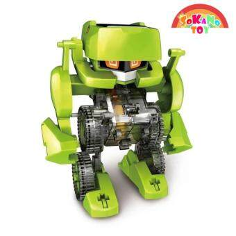 SOKANO TOY 4 In 1 Dinosaur Solar Power Educational Robot Kit DIY Toy - 2