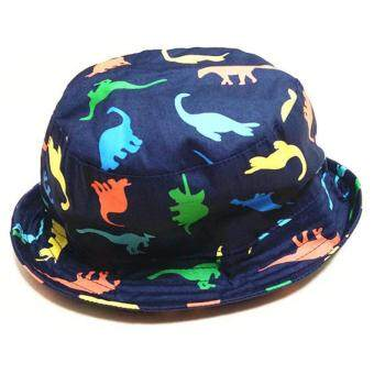 Harga Sun Protection Bucket Hat Fisherman Sun Cap Beach Hat Fisherman HatKid Boy Bucket Hats Dinosaur Hat (Head Size 48cm)