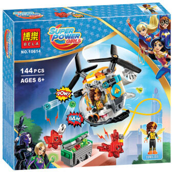 Super female hero 10618 super hero High School/10617 Harry theQuinn the stars who refuse to rescue building blocks toys