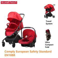 Sweet Heart Paris Baby Stroller And Car Seat Combo C
