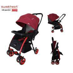 Sweet Heart Paris ST260 Dirt Repellent Stroller (Red) with Reversible One-Handed Folding System