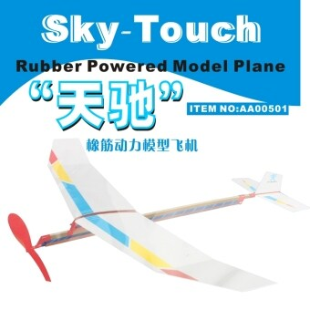 Harga Teenager children's model aircraft game elastic power modelaircraft puzzle assembled toy technology small production Tian Chi