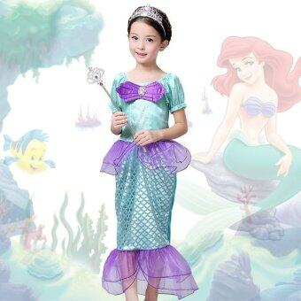 The Little Mermaid Ariel Kids Girls Dresses Princess CosplayHalloween Costume