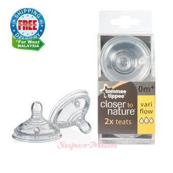 Harga Tommee Tippee Closer to Nature Teat Vari Flow 0m+ (2pcs)