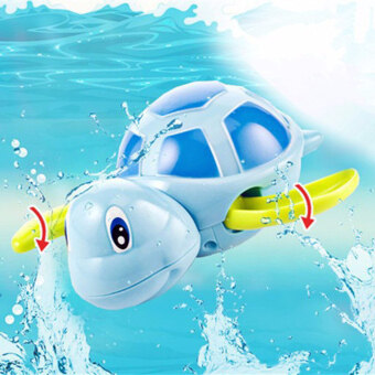 Harga Top Baby Bath Swimming Toy Turtle Wind Up Clockwork Play SwimmingAlligator for Kid Educational Toys Random Color
