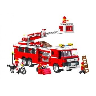 Harga Top Race(R) Fire Truck Vehicle Building Set with Fire ChiefMotorcycle and Accessories, Building Blocks, block Style (576Pieces)