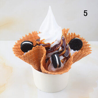Waffle bowl ice cream model fancy ice cream model waffle bowl icecream mold dessert model Ornaments