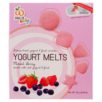 Harga Wel-B Baby Freeze Dried Yogurt Melts Bundle - 2 boxes (Mixed Berry & Strawberry) [Expire June 2018]