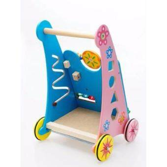 Wooden Baby Walker Toddler Stroller and Toys Activity Center - 2