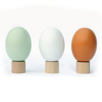 Harga Wooden Chicken Egg Duck Egg Easter Egg DIY Graffiti Painted TrickyToy (Random Color) - Intl