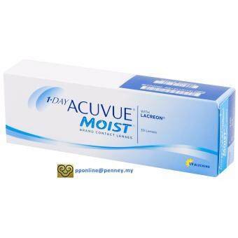 Harga 1-DAY ACUVUE MOIST Contact Lenses *-1.25 (30 lenses/box)