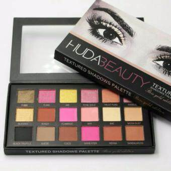 18 Colours Huda Beauty Textured Eyeshadows Cosmetic Makeup Palette Rose Gold