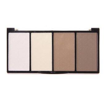 1x Makeup 4 Color Shading Highlight Shadow Concealer PalettePressed Powder-