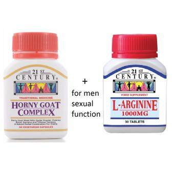 21st Century Horny Goat Complex 30's + L-Arginine 1000mg 30's (sexual booster for men)