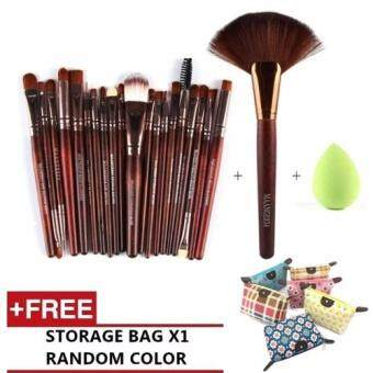 Harga 22pcs set make up Brush clean face wash healthy beauty make upcolor Eyeshadow consealer set (Gold)