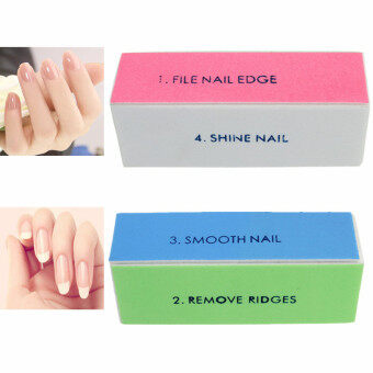 Harga 2/5Pcs 4 Way Nail Art Buffer Buffing Sanding Files Block PedicureManicure Care