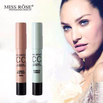 Harga 2pcs MISS ROSE Concealer Stick CC Corrector Cream Bronzer ContourPen Blemish Pores Flawless Corrects Redness