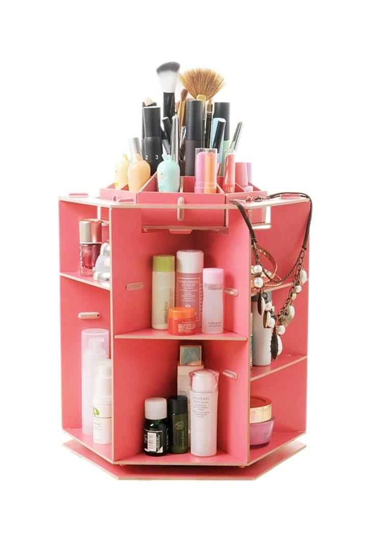 makeup organizer wood. 360 degree rotating wood cosmetic organizer makeup box case holder- watermelon red | lazada malaysia g