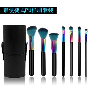 7 Support makeup brush sets beginner's a full brush makeup toolswith bottled brush set blush eye shadow brush lip brush