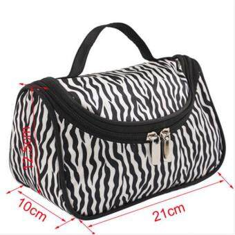 Harga Ai Home Makeup Cosmetic Organizer Pouch Fashion Women Toiletry Bag(Zebras)
