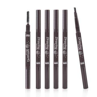 Automatically Rotate The Eyebrow Pencil Eyebrow Enhancers MakeupDouble-headed Brush Eyebrows Brushes DarkBrown
