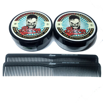 Berro Pomade Strong Hold - Wild Berries Scent (100 Gram) 2 Unit + Free 2 Comb
