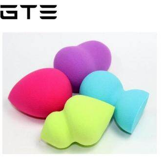 Harga BIG 4pcs Pro Beauty Flawless Makeup Blender Foundation Puff Multi Shape Sponges New Multicolor (CM-2842) makeup brush