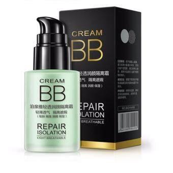 Bioaqua Light Breathable Repair Isolation BB Cream_Moisturizing Oil Control Concealer Foundation Primer Nude Makeup (Fresh Green)