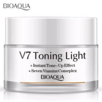 Harga Bioaqua V7 Toning Light Instant Tone Up Effect_ Crystal Clear Nude Makeup Lazy Cream 50g Foundation BB CC