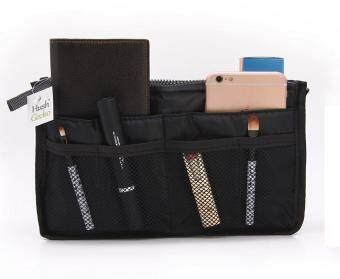 [Black] Purse Bag Insert, Makeup Cosmetic Organize, Make up HandbagNylon Pouch Diaper Organizer, Longchamp, LV