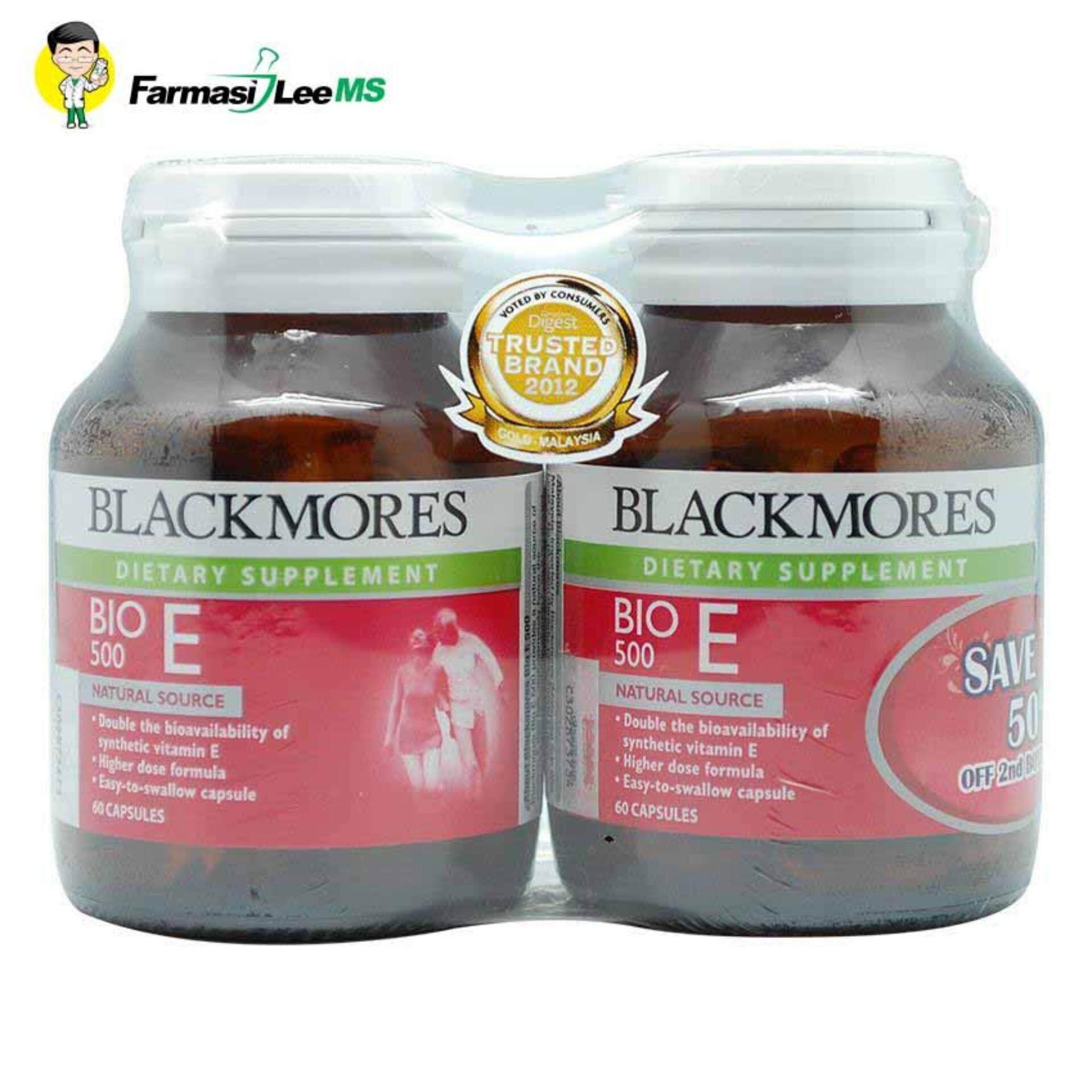 Blackmores Reviews Ratings And Best Price In Kl Selangor Natural E 250iu 50 Capsules Bio 500iu 60 Tablets