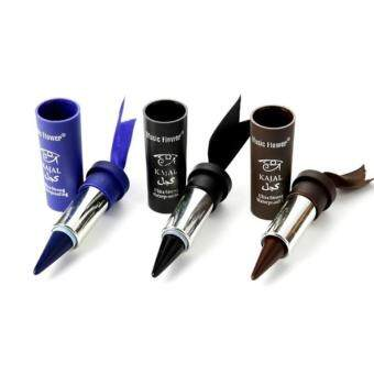 Harga (Blue)3 Colors Smoky Eyes KAJALs Eyeliner Solid Thick Black BoldEyes Liner Gel Pencil Makeup