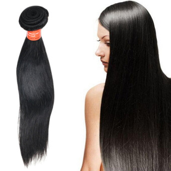 Harga Bluelans 18Inch 1 Bunch Straight Virgin Human Hair Natural Remy Hair Extensions Wigs