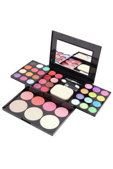 Harga Bluelans Blusher Lip Gloss Eyeshadow Palette Makeup Kit BrushCosmetic Set