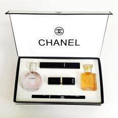 chanel 5 gift set. chanel gift set ( 5 in 1 ) with chance 15ml perfume , coco madmosile mascara eyeliner pencil lipstick