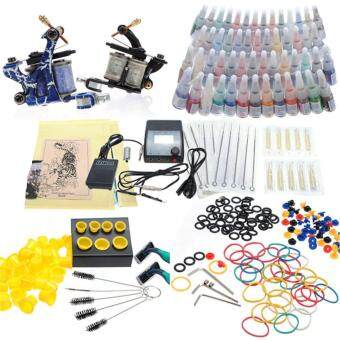 Harga Complete Professional 2 Tattoo Guns 54 Color inks Kits - MachineEquipment Set