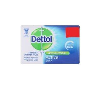 Harga Dettol Active Anti-Bacterial Soap 105g Buy 3 Free 1